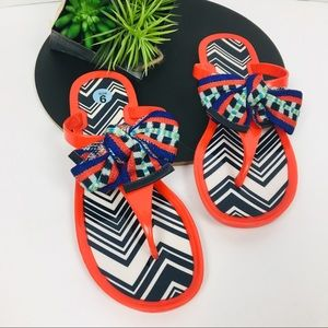 Missoni Red Bow Thong Sandals 37 (7)